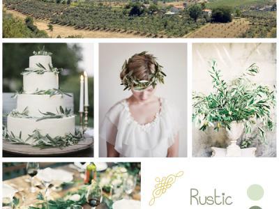 Inspiration Board: Matrimonio in campagna fra gli oliveti